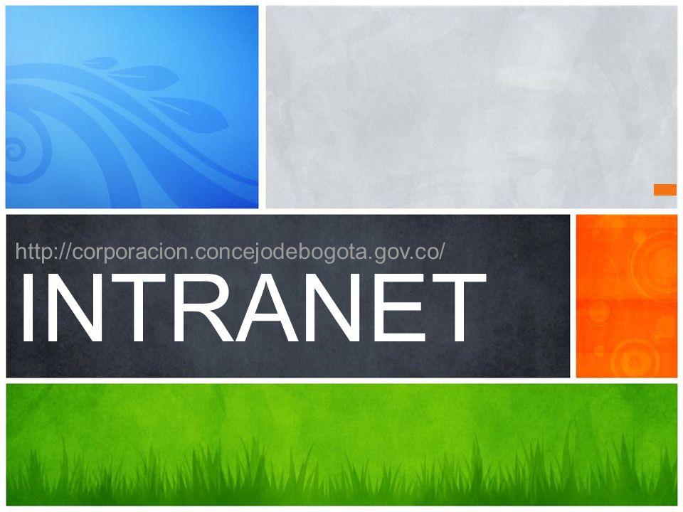 http://corporacion.concejodebogota.gov.co/ INTRANET