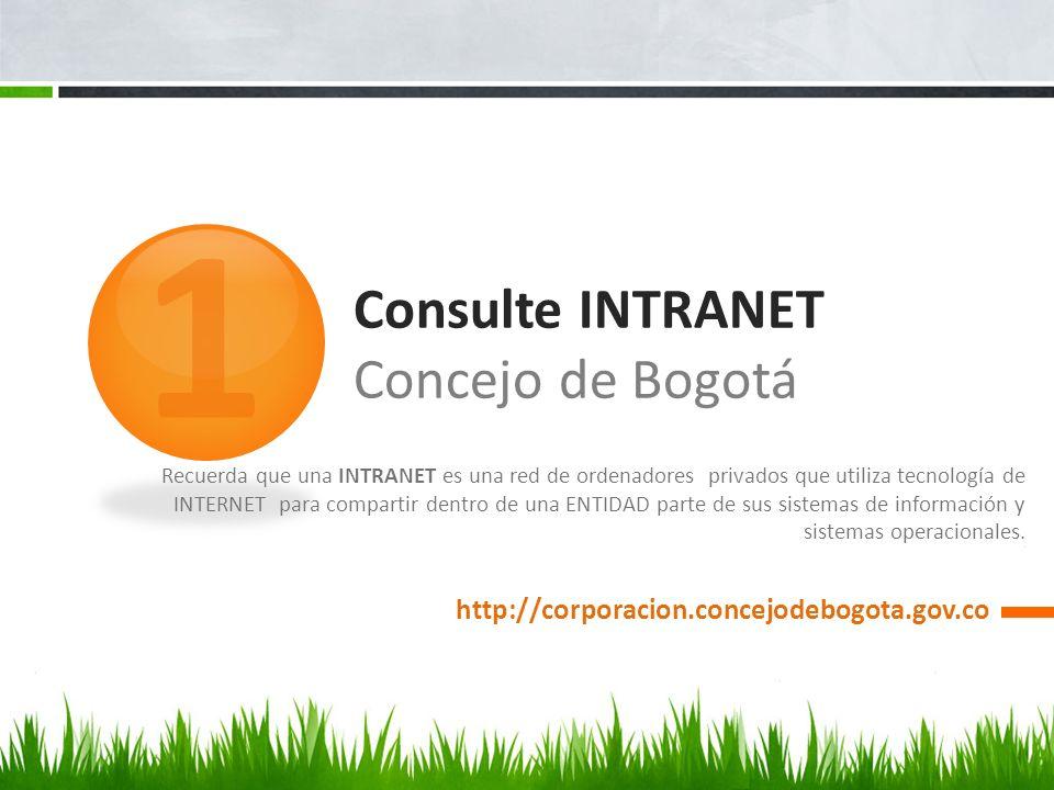 Consulte INTRANET Concejo de Bogotá