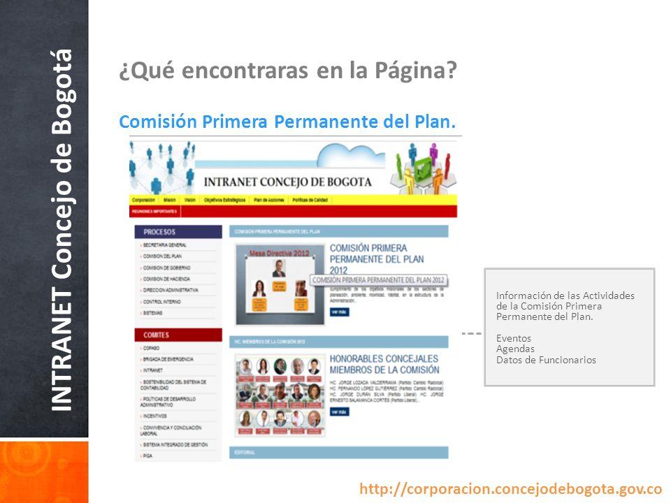 INTRANET Concejo de Bogotá