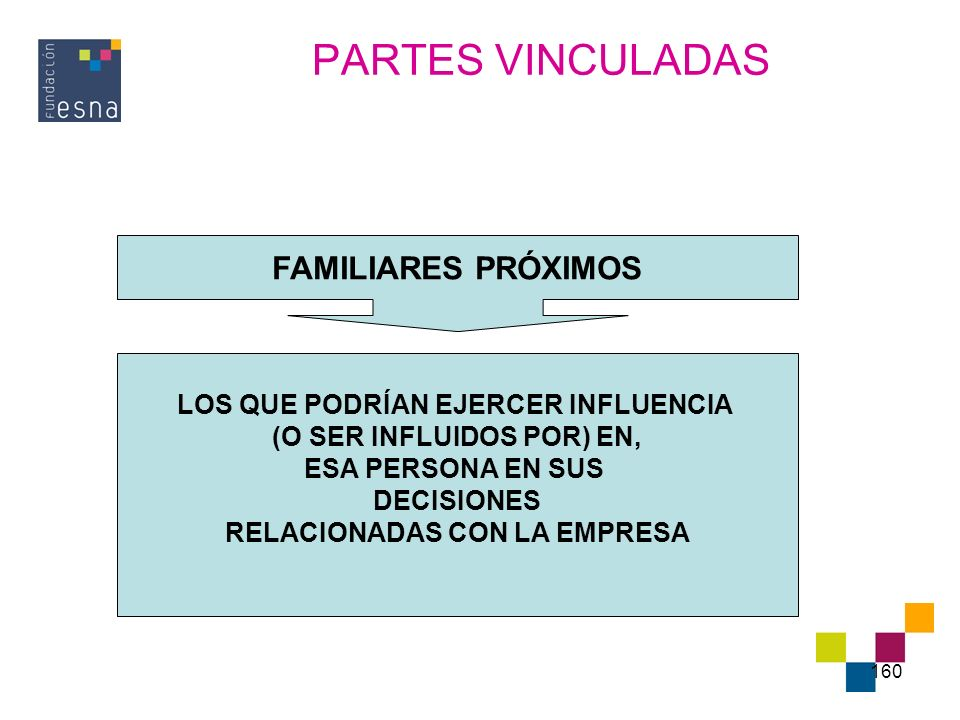 PARTES VINCULADAS FAMILIARES PRÓXIMOS