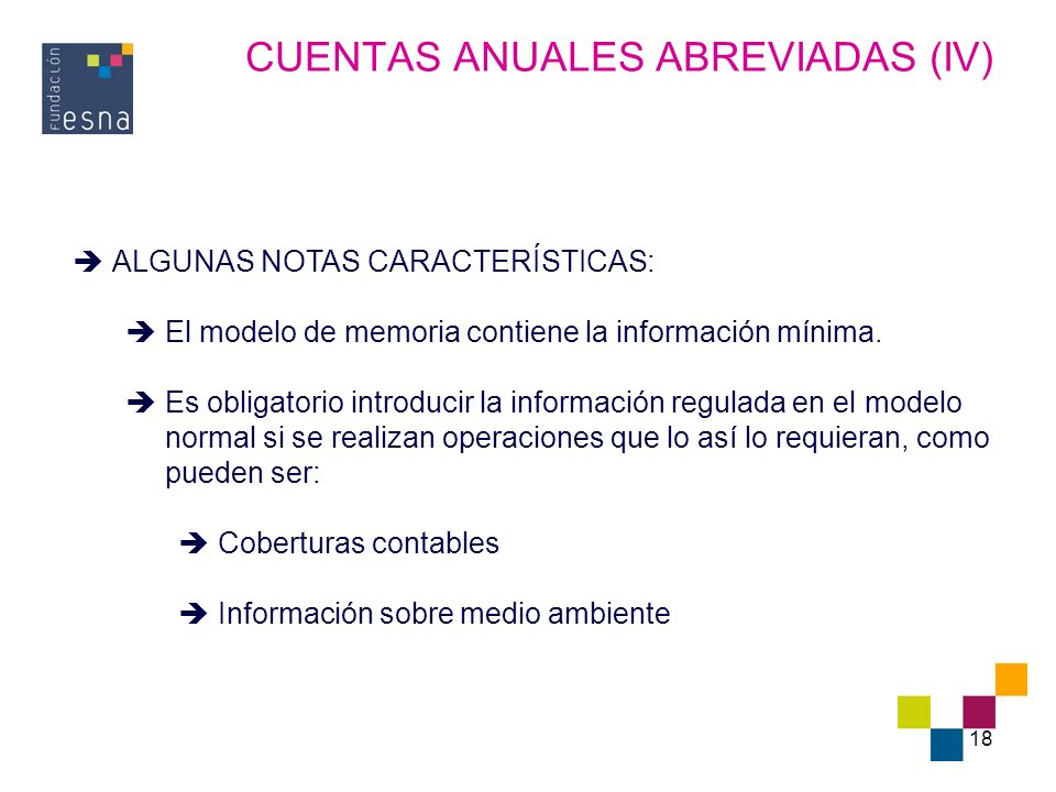 CUENTAS ANUALES ABREVIADAS (IV)