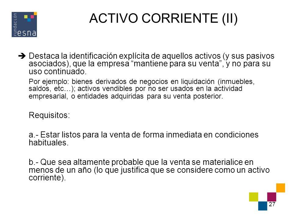 ACTIVO CORRIENTE (II)