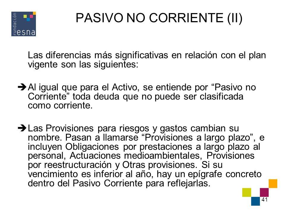 PASIVO NO CORRIENTE (II)