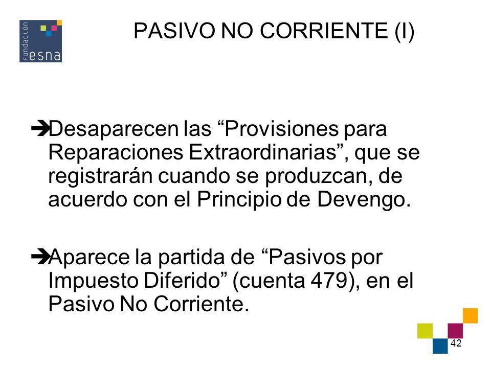 PASIVO NO CORRIENTE (I)