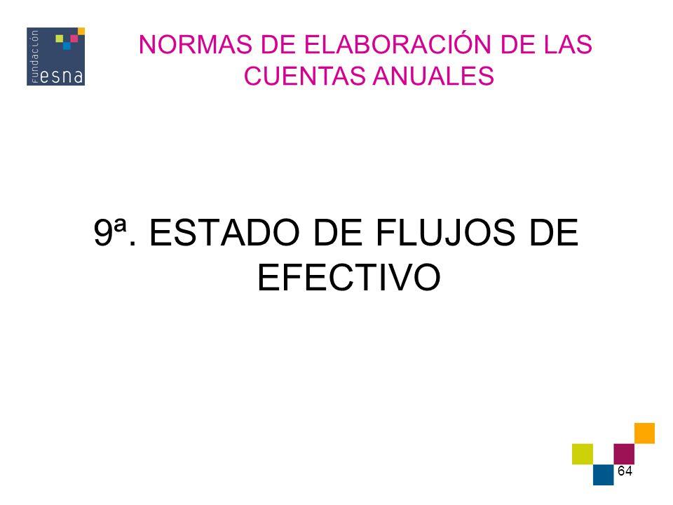 9ª. ESTADO DE FLUJOS DE EFECTIVO