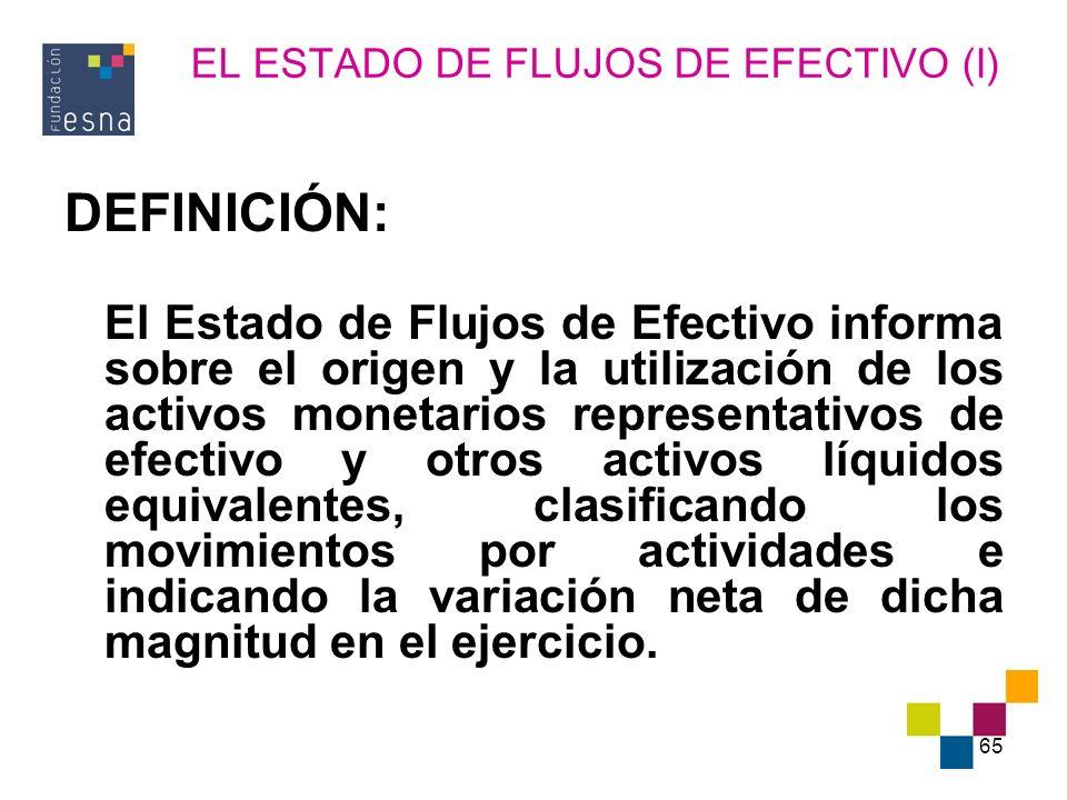 EL ESTADO DE FLUJOS DE EFECTIVO (I)