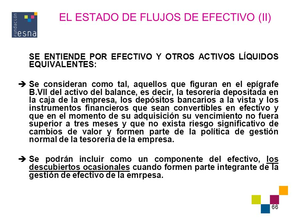 EL ESTADO DE FLUJOS DE EFECTIVO (II)