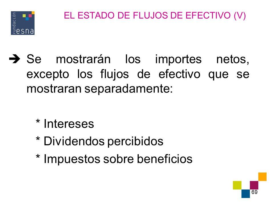 EL ESTADO DE FLUJOS DE EFECTIVO (V)