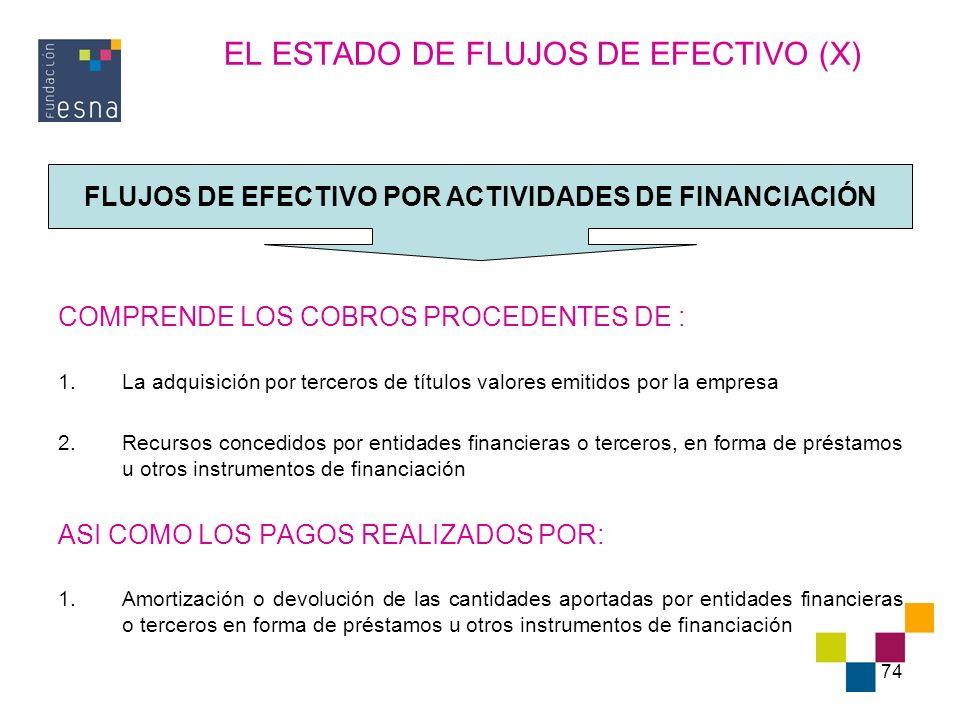 EL ESTADO DE FLUJOS DE EFECTIVO (X)