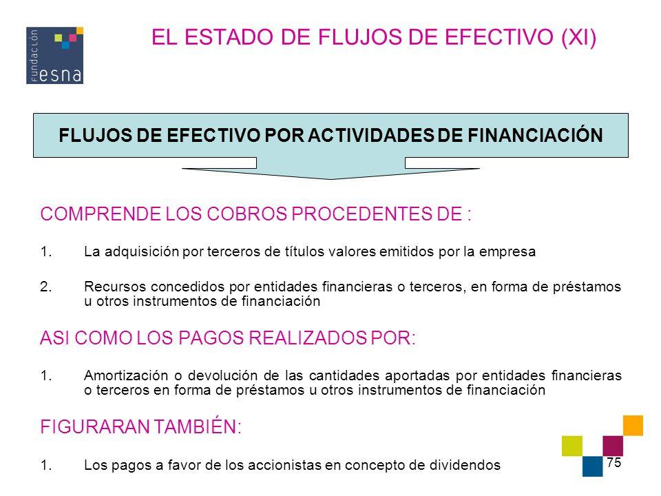 EL ESTADO DE FLUJOS DE EFECTIVO (XI)