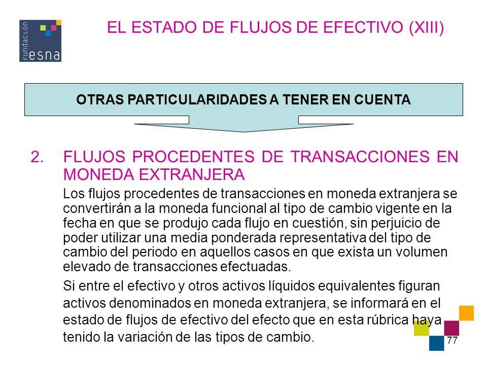 EL ESTADO DE FLUJOS DE EFECTIVO (XIII)