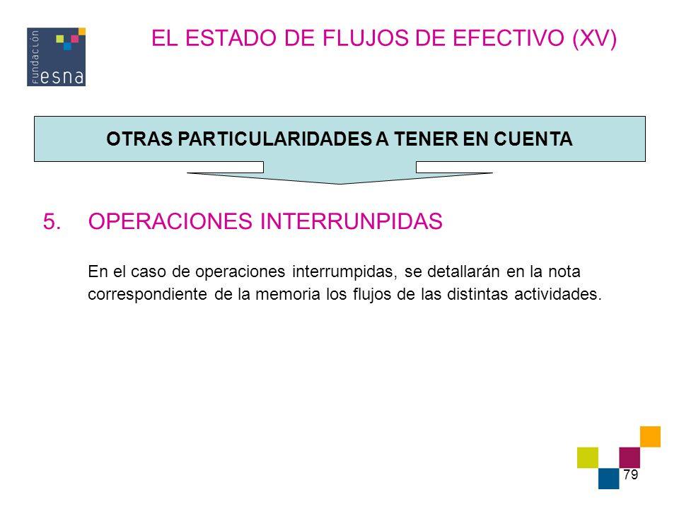EL ESTADO DE FLUJOS DE EFECTIVO (XV)