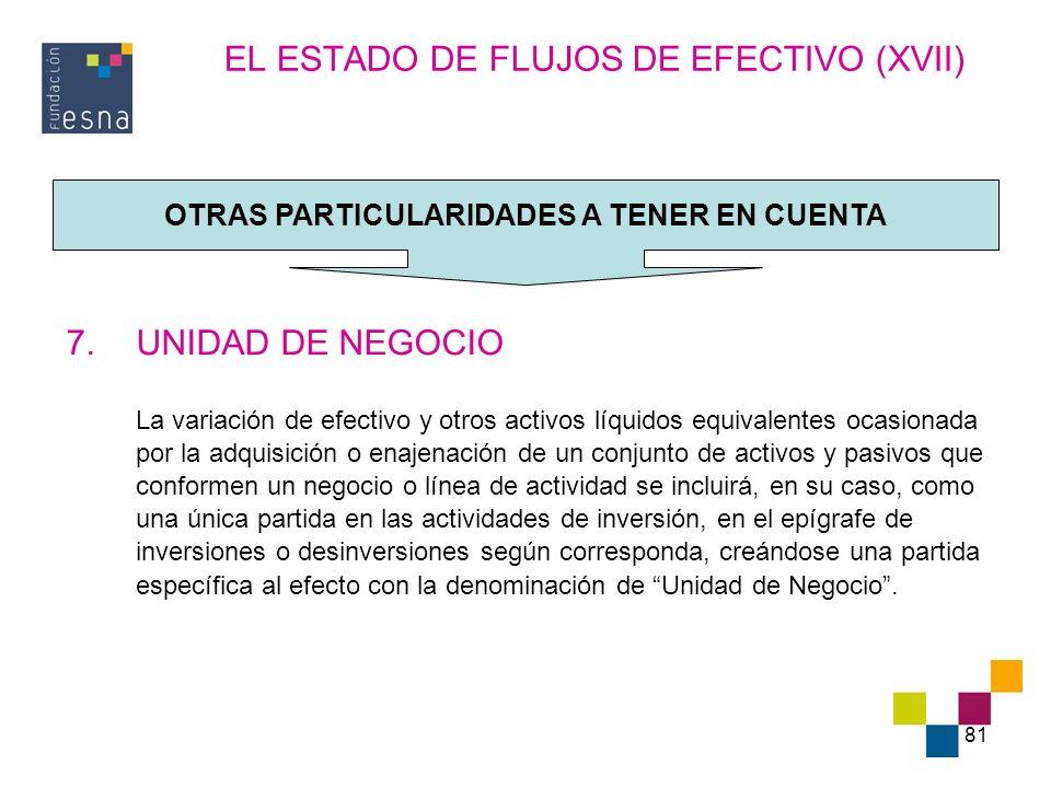 EL ESTADO DE FLUJOS DE EFECTIVO (XVII)