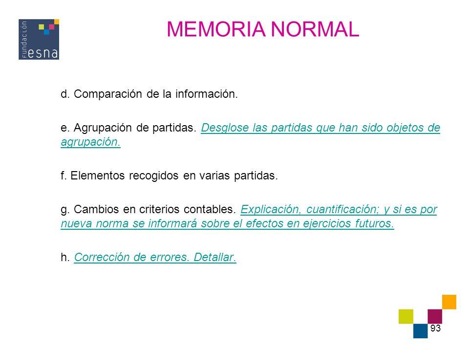 MEMORIA NORMAL