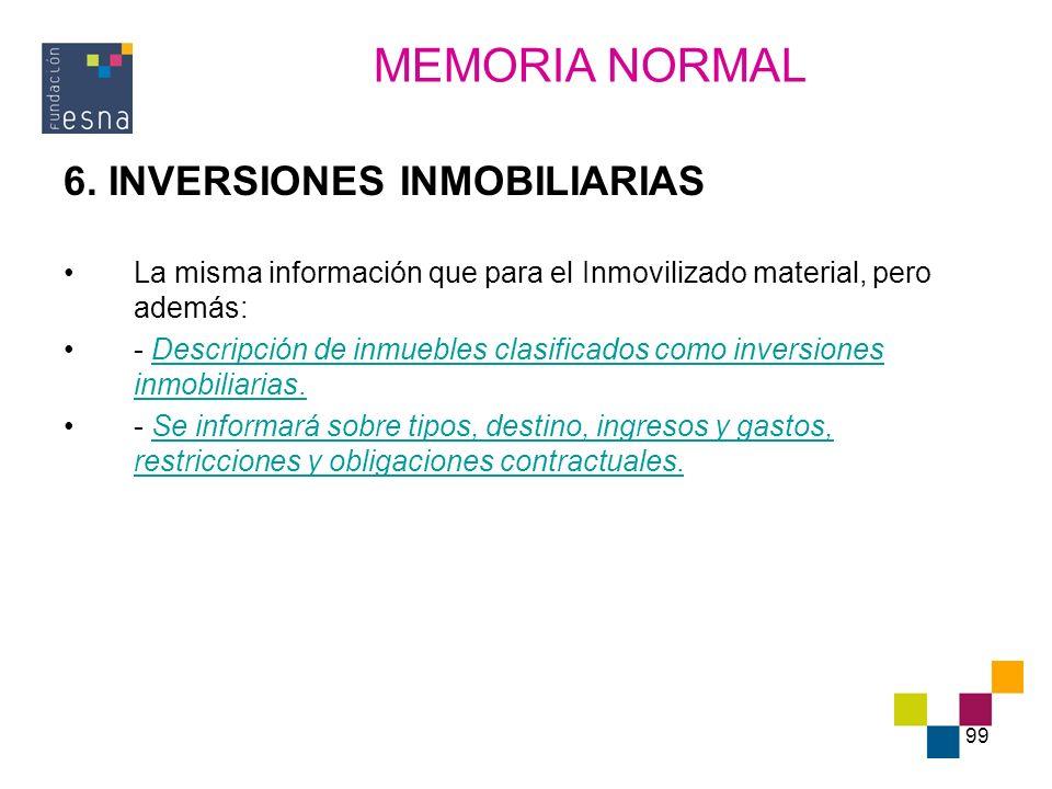 MEMORIA NORMAL 6. INVERSIONES INMOBILIARIAS