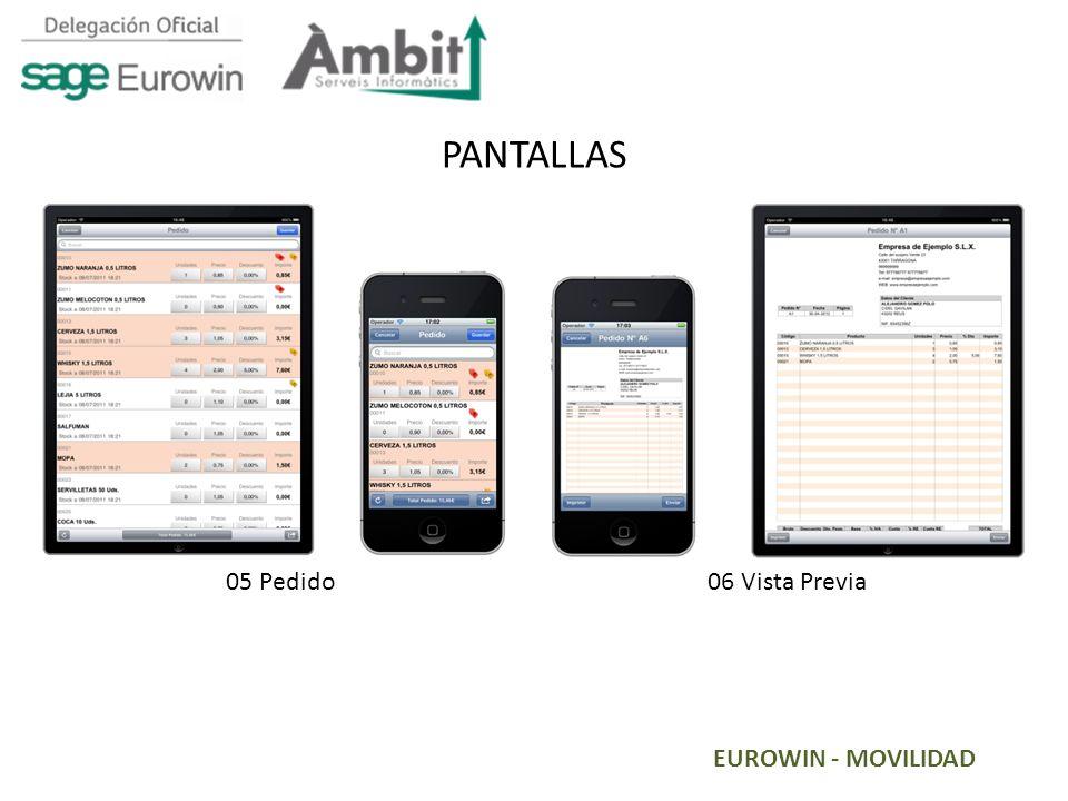 PANTALLAS 05 Pedido 06 Vista Previa EUROWIN - MOVILIDAD