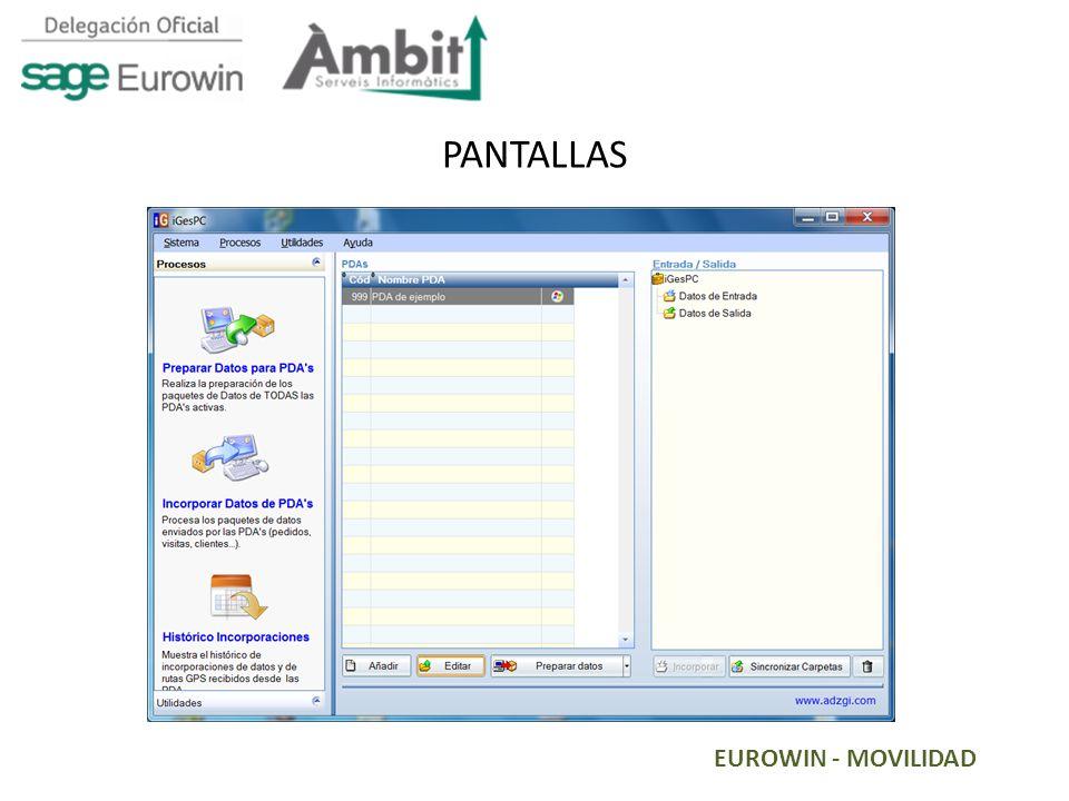 PANTALLAS EUROWIN - MOVILIDAD