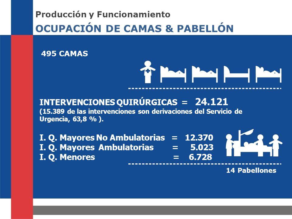OCUPACIÓN DE CAMAS & PABELLÓN