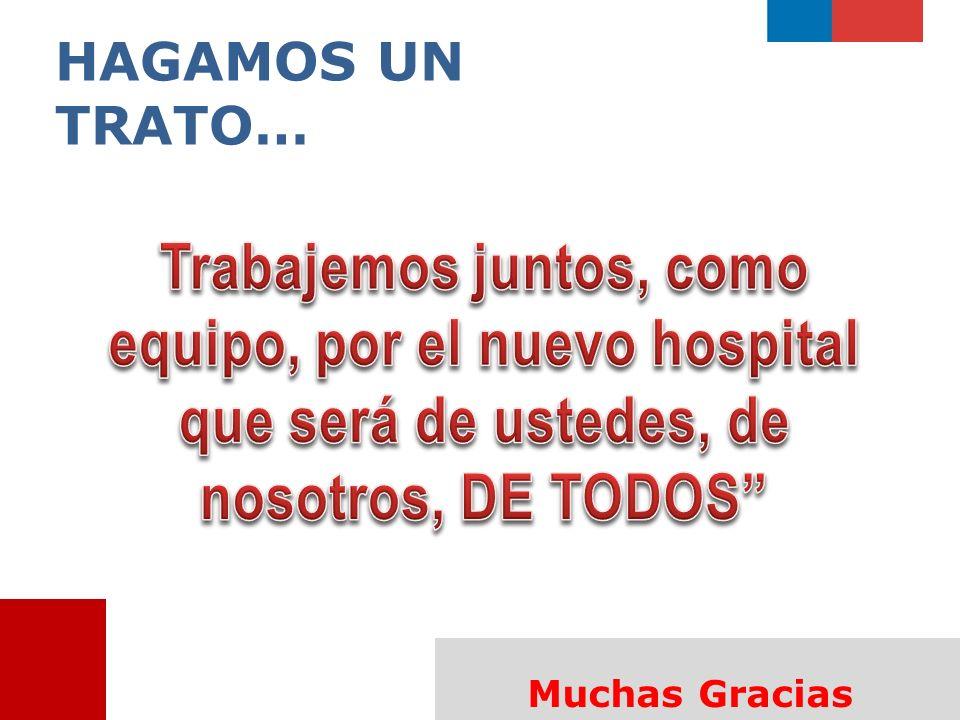 HAGAMOS UN TRATO… Trabajemos juntos, como equipo, por el nuevo hospital que será de ustedes, de nosotros, DE TODOS