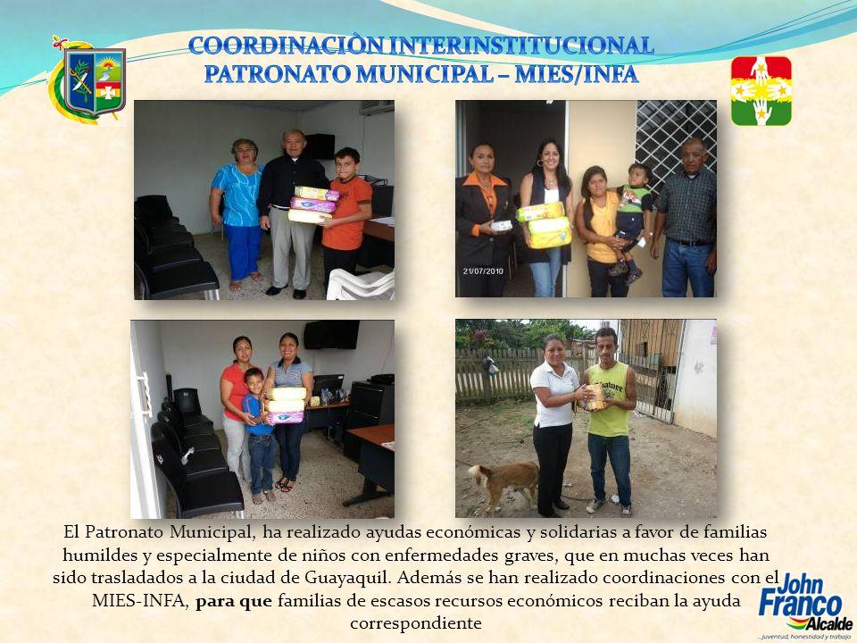 COORDINACIÒN INTERINSTITUCIONAL PATRONATO MUNICIPAL – MIES/INFA