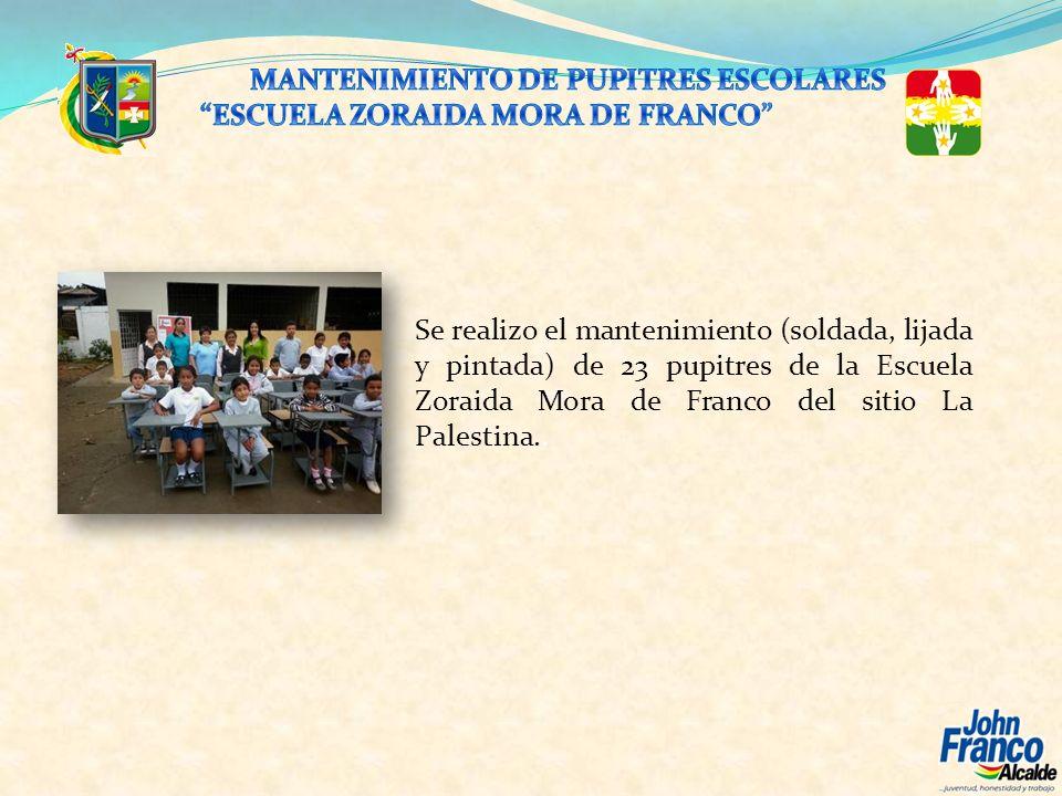 MANTENIMIENTO DE PUPITRES ESCOLARES
