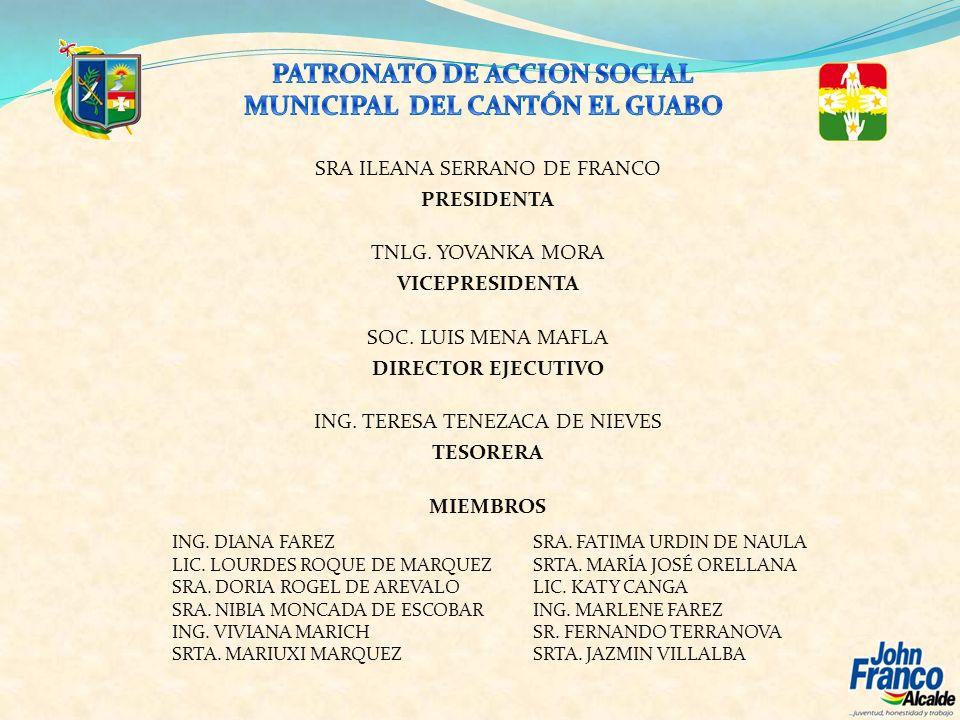 PATRONATO DE ACCION SOCIAL MUNICIPAL DEL CANTÓN EL GUABO