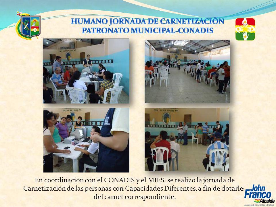 HUMANO JORNADA DE CARNETIZACIÒN PATRONATO MUNICIPAL-CONADIS