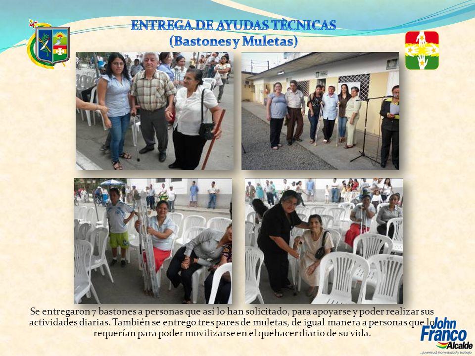 ENTREGA DE AYUDAS TÈCNICAS