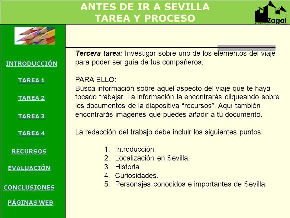ANTES DE IR A SEVILLA TAREA Y PROCESO
