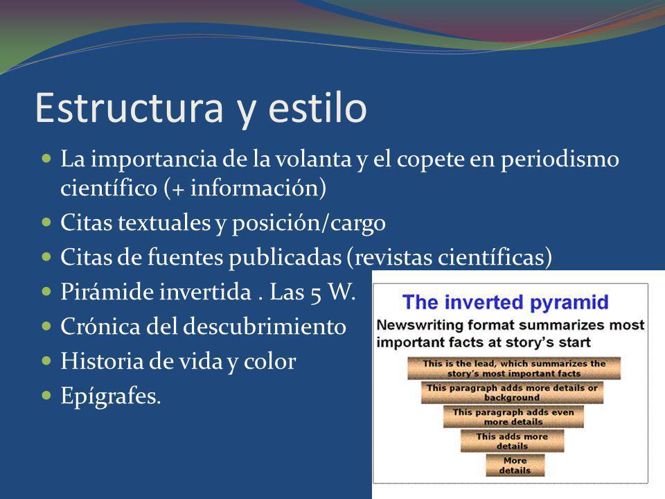 Estructura y estilo La importancia de la volanta y el copete en periodismo científico (+ información)
