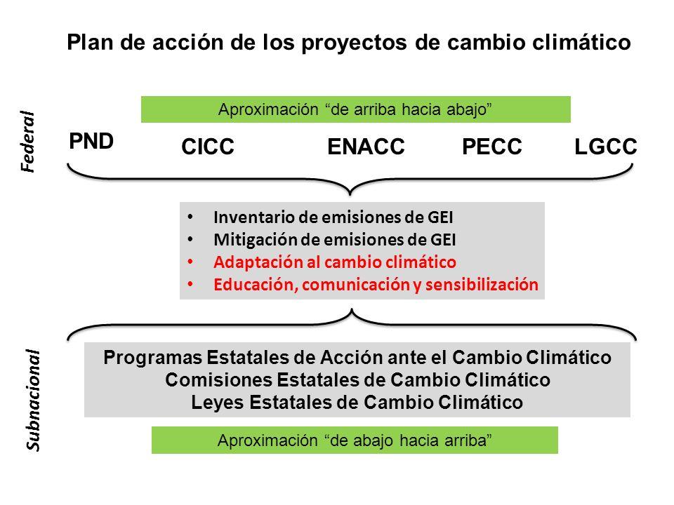 Plan de acción de los proyectos de cambio climático