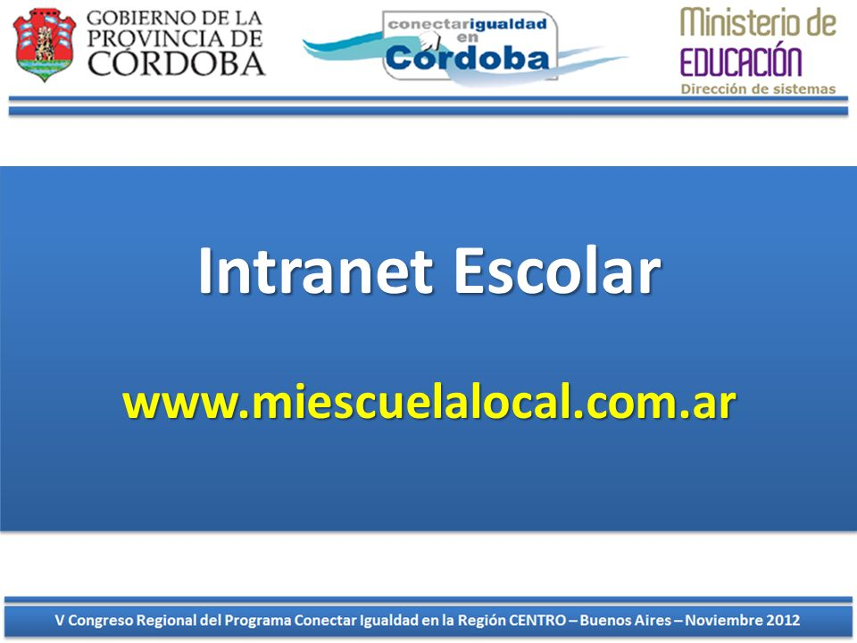 Intranet Escolar www.miescuelalocal.com.ar