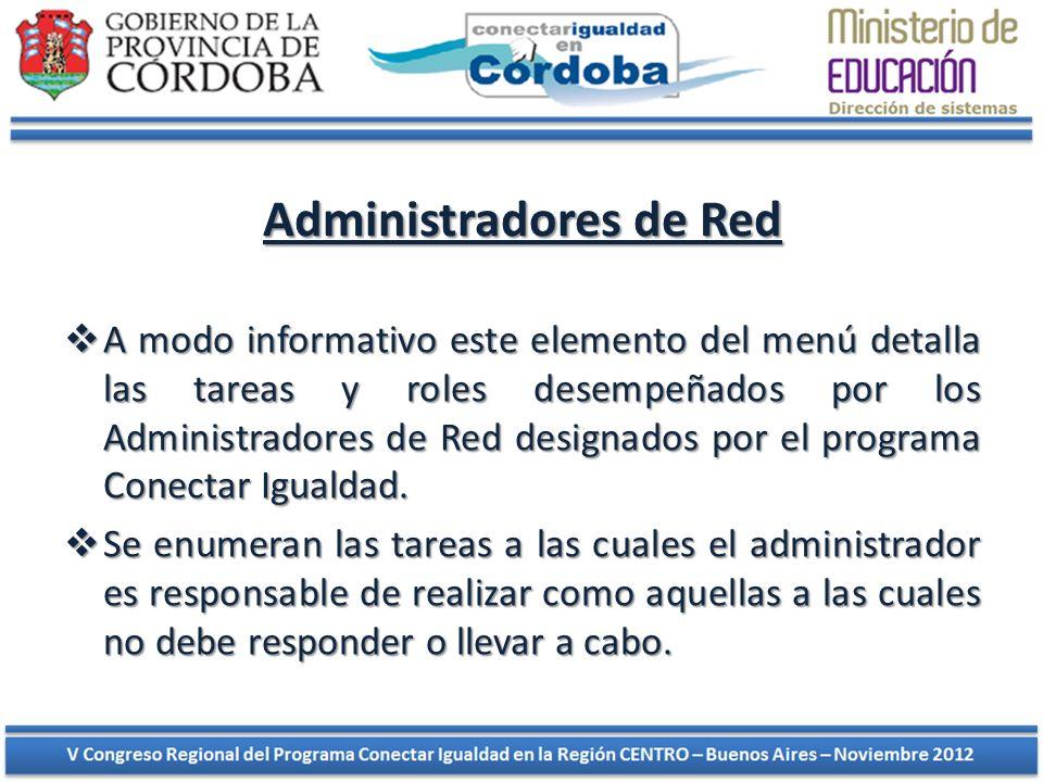 Administradores de Red