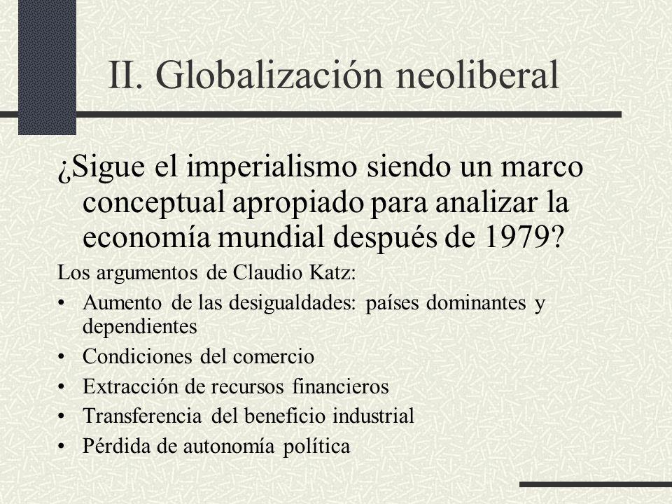 II. Globalización neoliberal