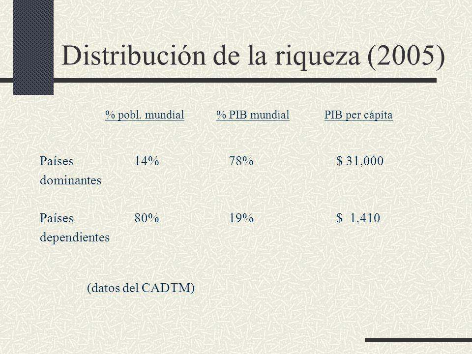 Distribución de la riqueza (2005)