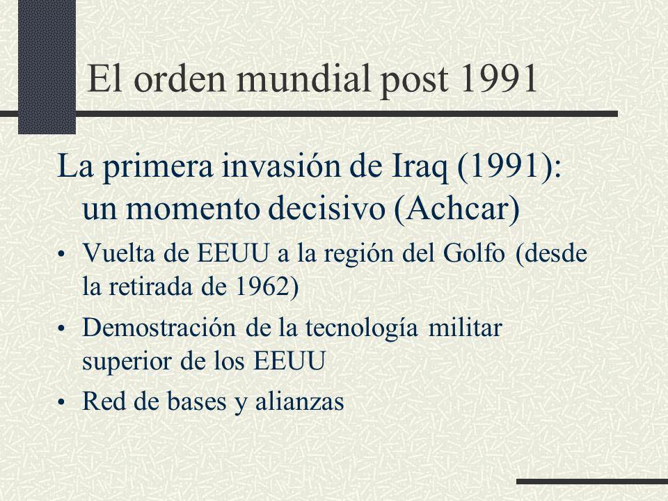 El orden mundial post 1991 La primera invasión de Iraq (1991): un momento decisivo (Achcar)