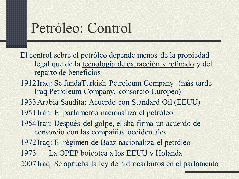 Petróleo: Control