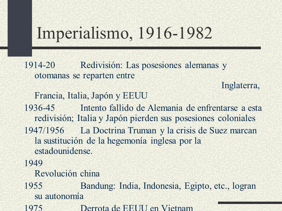 Imperialismo, 1916-1982