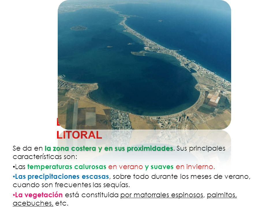 EL CLIMA DE LA ZONA LITORAL