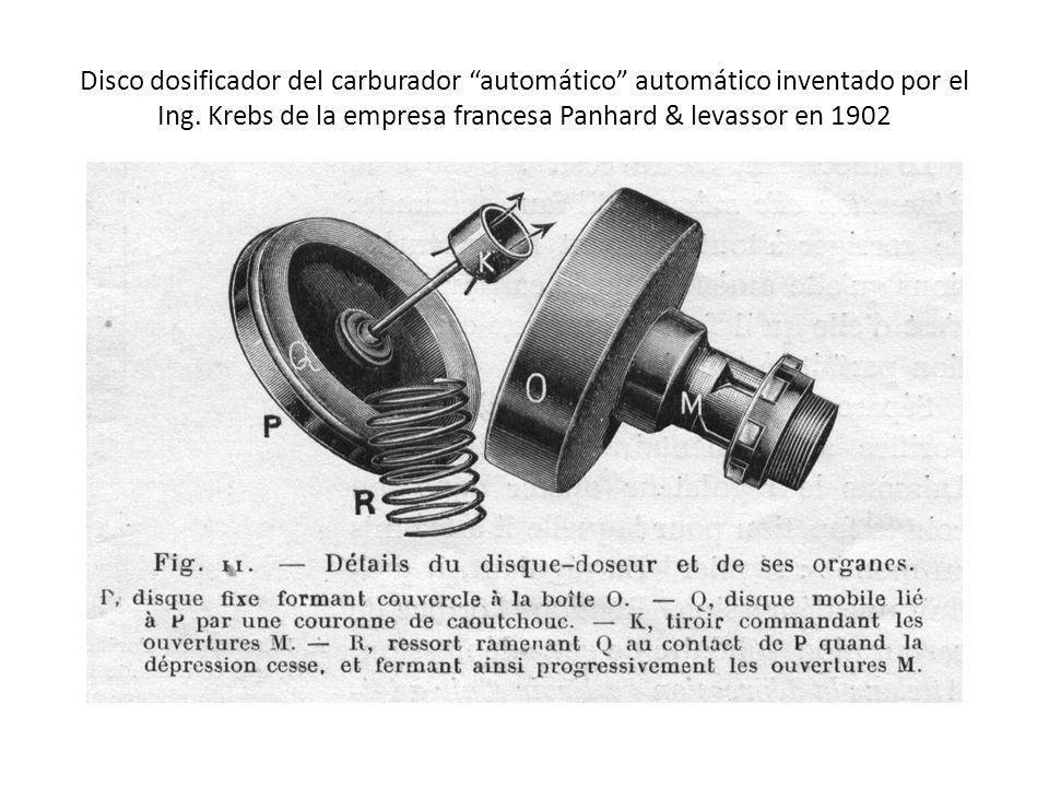 Disco dosificador del carburador automático automático inventado por el Ing.
