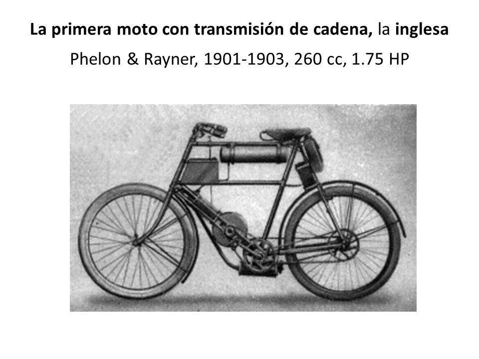 La primera moto con transmisión de cadena, la inglesa Phelon & Rayner, 1901-1903, 260 cc, 1.75 HP
