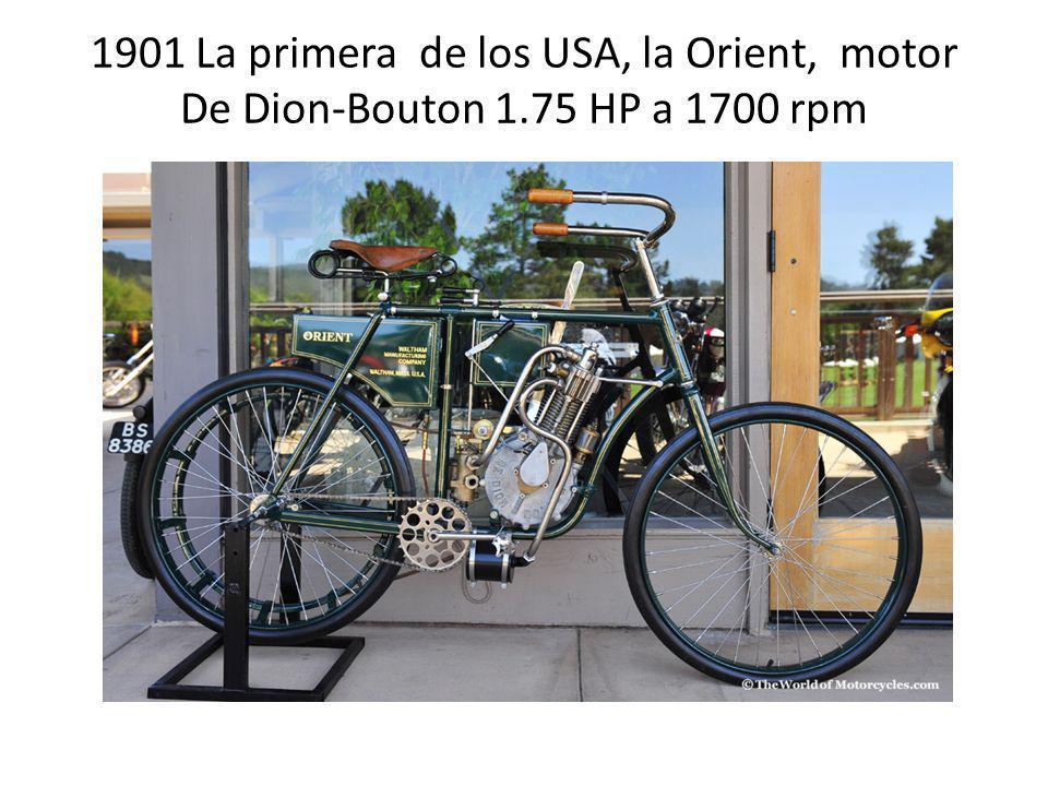 1901 La primera de los USA, la Orient, motor De Dion-Bouton 1