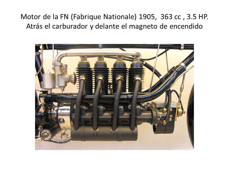 Motor de la FN (Fabrique Nationale) 1905, 363 cc , 3. 5 HP