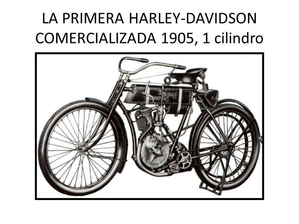 LA PRIMERA HARLEY-DAVIDSON COMERCIALIZADA 1905, 1 cilindro