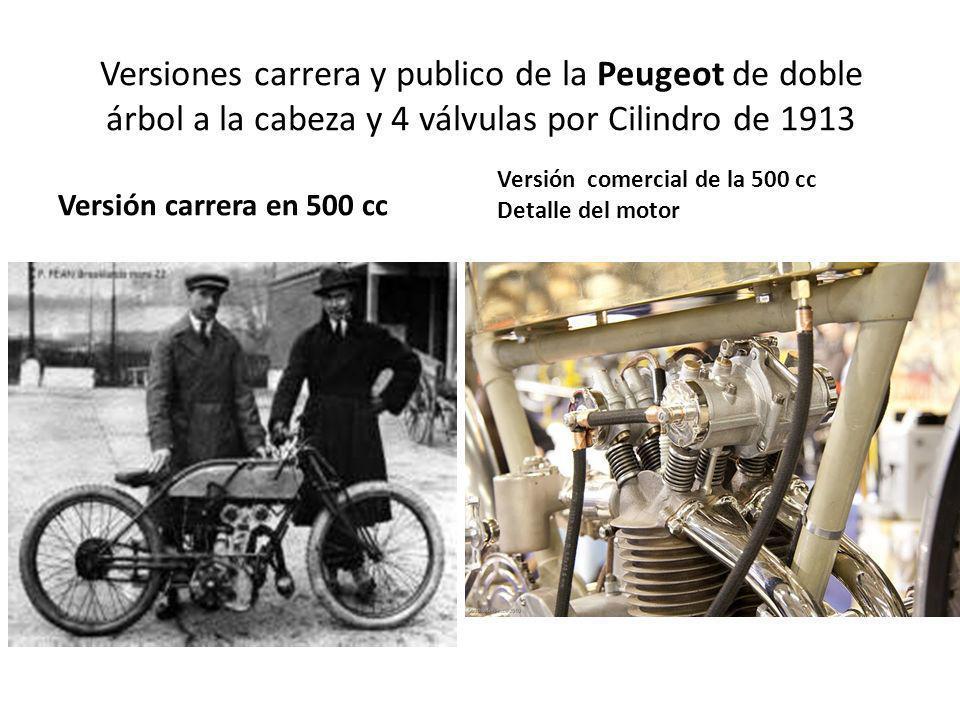 Versiones carrera y publico de la Peugeot de doble árbol a la cabeza y 4 válvulas por Cilindro de 1913