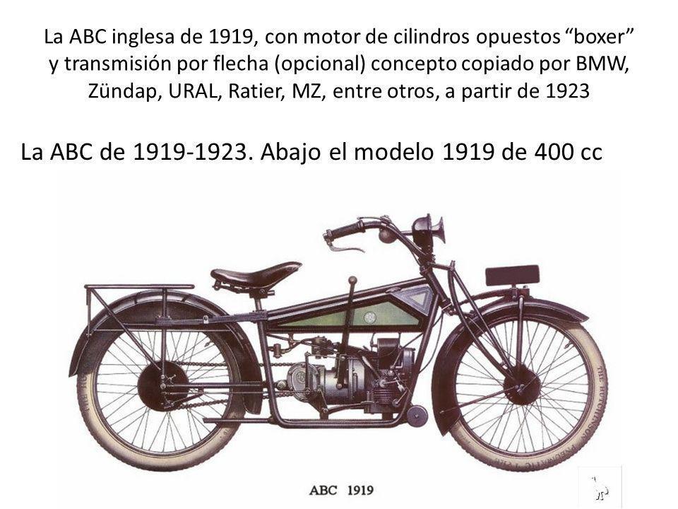 La ABC de 1919-1923. Abajo el modelo 1919 de 400 cc