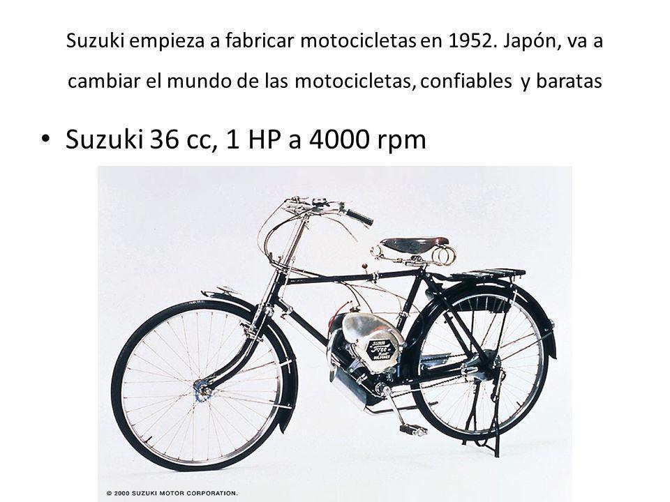 Suzuki empieza a fabricar motocicletas en 1952