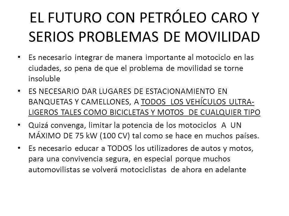 EL FUTURO CON PETRÓLEO CARO Y SERIOS PROBLEMAS DE MOVILIDAD