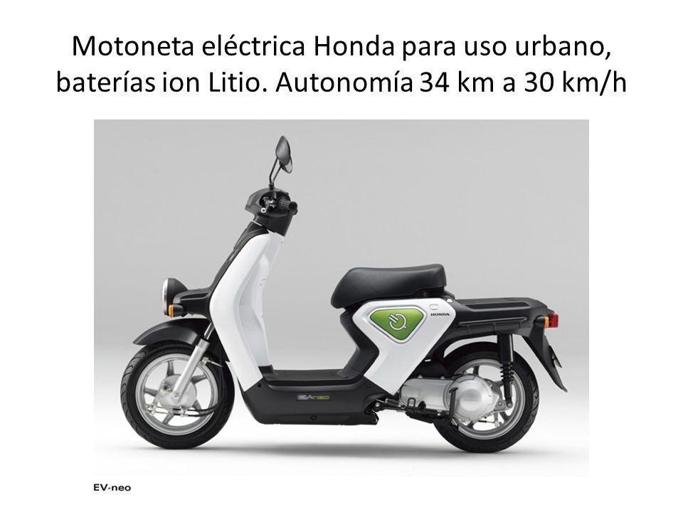 Motoneta eléctrica Honda para uso urbano, baterías ion Litio