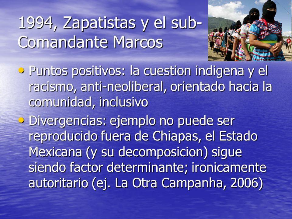 1994, Zapatistas y el sub-Comandante Marcos